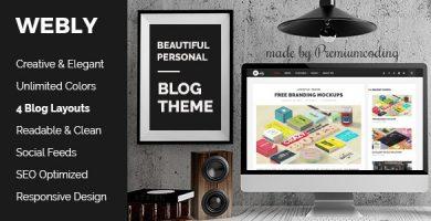 قالب Webly - قالب وبلاگ وردپرس