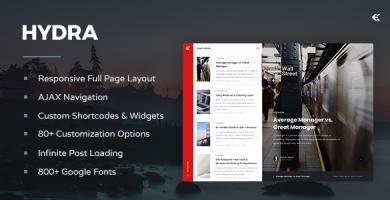 قالب Hydra - قالب وبلاگ وردپرس ریسپانسیو