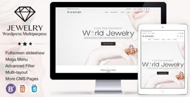 قالب جواهرات | Jewelry - قالب وردپرس ریسپانسیو