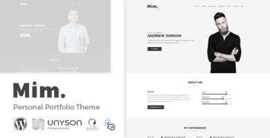 قالب Mim - قالب وردپرس نمونه کار شخصی