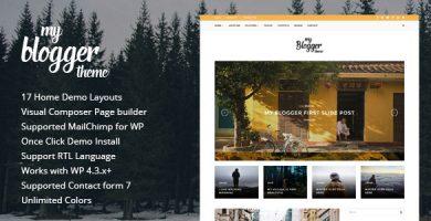 قالب Myblogger - قالب وبلاگ وردپرس ریسپانسیو