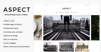 قالب Aspect - قالب وبلاگ وردپرس