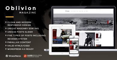 قالب Oblivion - قالب مجله وردپرس