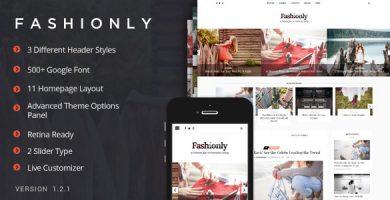 قالب Fashionly - قالب وبلاگ مد