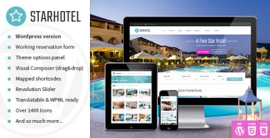 قالب Starhotel - قالب وردپرس هتل