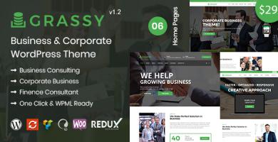 قالب Grassy Business - قالب وردپرس کسب و کار