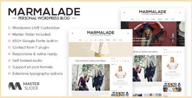 قالب The Marmalade - قالب وبلاگ وردپرس شخصی