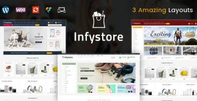 قالب اینفی استور | Infystore - قالب فروشگاهی چند منظوره