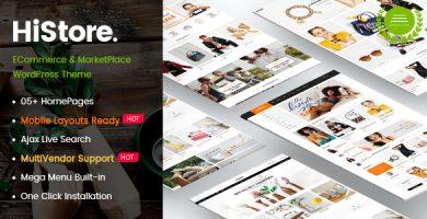 قالب های استور | HiStore - قالب فروشگاهی وردپرس