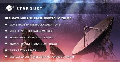 قالب Stardust - قالب نمونه کار وردپرس چند منظوره