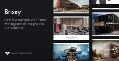 قالب Brixey - قالب وردپرس معماری ریسپانسیو
