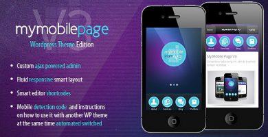 قالب My Mobile Page V3 - قالب وردپرس