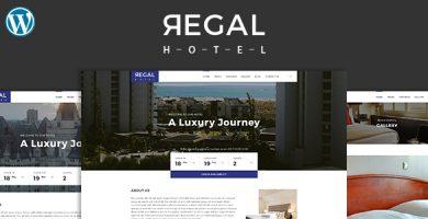 قالب Regal - قالب وردپرس هتل