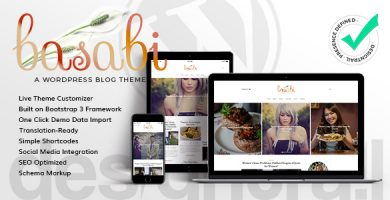 قالب Basabi - قالب وردپرس وبلاگ