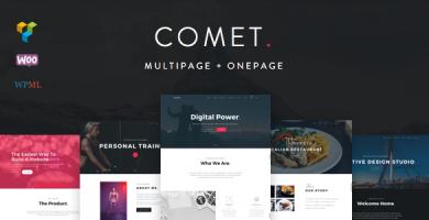 قالب Comet - قالب وردپرس چند منظوره خلاقانه