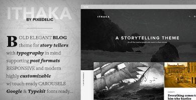 قالب Ithaka - قالب وبلاگ وردپرس ریسپانسیو