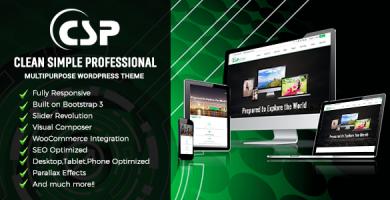 قالب CSP - قالب وردپرس چند منظوره ریسپانسیو