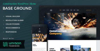 قالب Base Ground - قالب وردپرس ساخت و ساز
