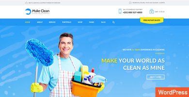 قالب Make Clean - قالب وردپرس شرکتی ساده