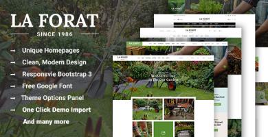 قالب LaForat - قالب وردپرس باغبانی و محوطه سازی