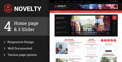 قالب Novelty - قالب وردپرس مجله