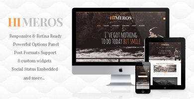 قالب Himeros - قالب وبلاگ وردپرس شخصی