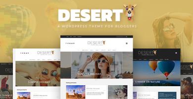 قالب Desert - قالب وبلاگ مسافرتی وردپرس