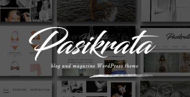 قالب Pasikrata - قالب وردپرس وبلاگ و مجله