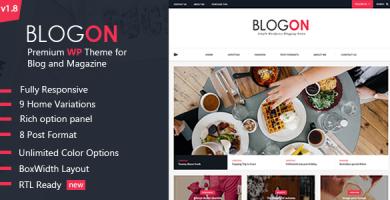 قالب Blogon - قالب وبلاگ وردپرس