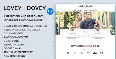 قالب Lovey Dovey - قالب وردپرس عروسی ریسپانسیو