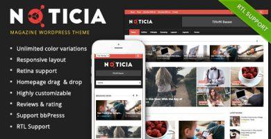 قالب Noticia - قالب ریسپانسیو مجله برای وردپرس