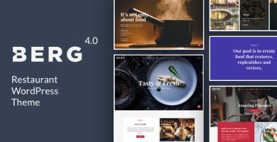 BERG - قالب وردپرس رستوران