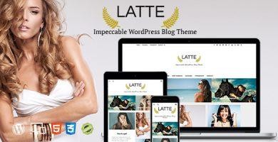 قالب Latte - قالب وبلاگ وردپرس ریسپانسیو