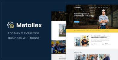 قالب Metallex - قالب وردپرس صنعتی و مهندسی