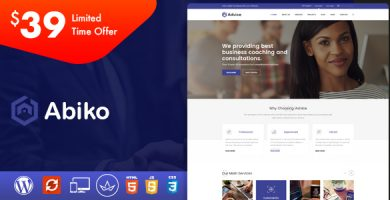 Abiko - قالب وردپرس مشاوره کسب و کار