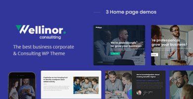Wellinor - قالب وردپرس مشاوره کسب و کار