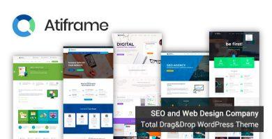 قالب Atiframe - قالب وردپرس شرکت سئو و طراحی وب