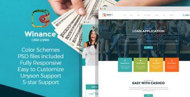 Winance - قالب وردپرس شرکت مالی