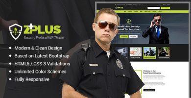 Zplus - قالب وردپرس شرکت امنیتی