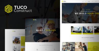 Tuco - قالب وردپرس ساخت و ساز ساختمان