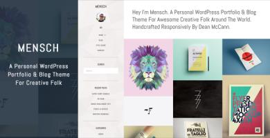 قالب Mensch - قالب وردپرس سایت و بلاگ شخصی