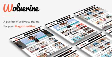 Wolverine - قالب مجله و وبلاگ وردپرس