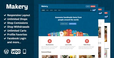 میک ری | Makery - قالب فروشگاهی وردپرس