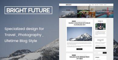 قالب BrightFuture - قالب مینیمال وبلاگ برای وردپرس