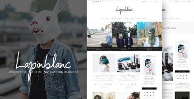 قالب Lapin Blanc - پوسته وردپرس مجله مد