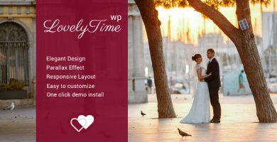 قالب LovelyTime - قالب وردپرس نامزدی و عروسی
