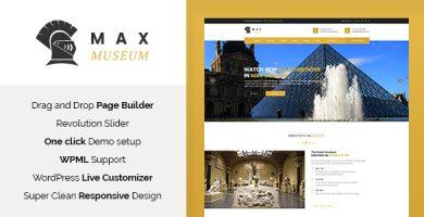 قالب Max Museum - قالب وردپرس تاریخ و باستان شناسی