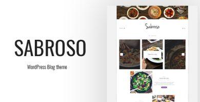 قالب Sabroso - قالب وردپرس غذا