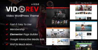 ویدوریو | VidoRev - قالب ویدئو وردپرس