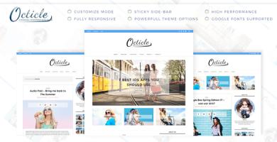 قالب Octicle - قالب وبلاگ وردپرس شخصی